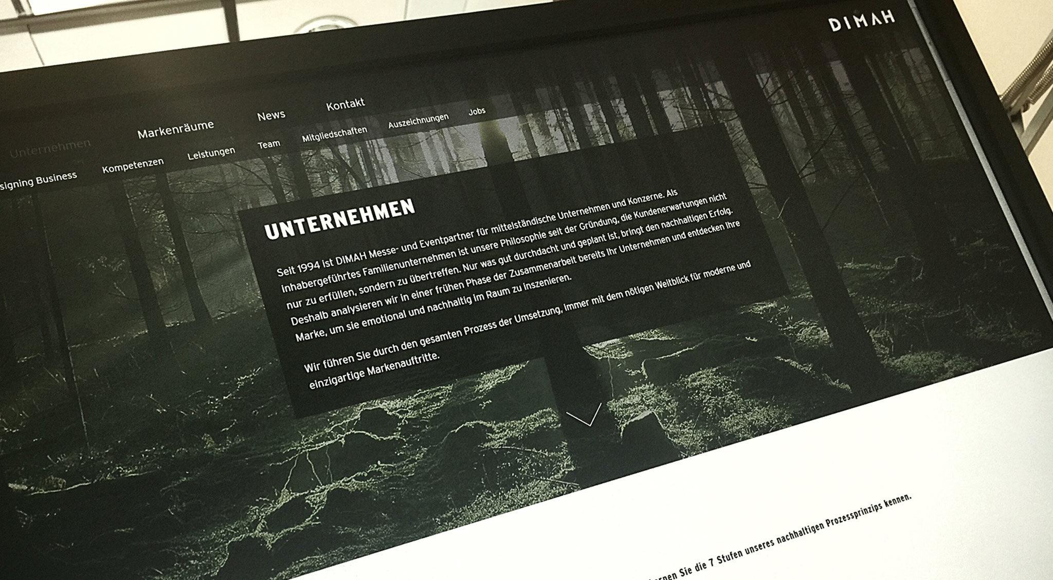 DIMAH Messe + Event – Website Launch
