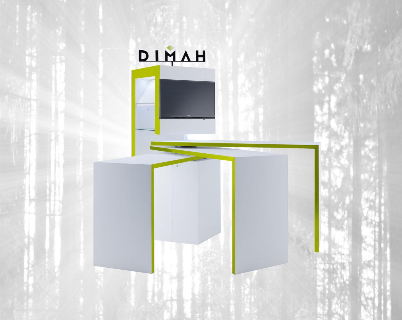 DIMAH SPINit! – flexibles, mobiles Präsentationssystem – Beispiel DIMAH