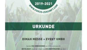 DIMAH Messe und Event GmbH Urkunde